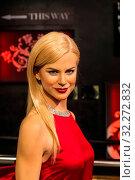 Купить «England, London, Marylebone, Interior View of Madam Tussauds, Waxwork Figure of Australian Actress Nicole Kidman», фото № 32272832, снято 14 декабря 2019 г. (c) age Fotostock / Фотобанк Лори