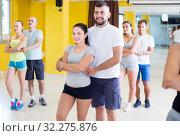 Купить «Energetic men and women dancing salsa», фото № 32275876, снято 21 июня 2017 г. (c) Яков Филимонов / Фотобанк Лори