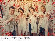 Купить «Young people posing as zombies», фото № 32276336, снято 8 октября 2018 г. (c) Яков Филимонов / Фотобанк Лори