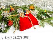 Купить «Cristmas presents», фото № 32279308, снято 10 октября 2019 г. (c) Юлия Бабкина / Фотобанк Лори