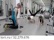 Купить «Детские тренировки в Балашихинском центре доктора Бубновского», эксклюзивное фото № 32279676, снято 7 февраля 2018 г. (c) ДеН / Фотобанк Лори