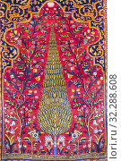 Купить «Traditional Persian carpet, Carpet Museum of Iran,Tehran, Iran.», фото № 32288608, снято 23 апреля 2019 г. (c) age Fotostock / Фотобанк Лори