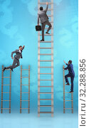Купить «The competition concept with businessman beating competitors», фото № 32288856, снято 3 июля 2020 г. (c) Elnur / Фотобанк Лори