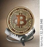 Купить «Businessman falling into the trap of bitcoin cryptocurrency», фото № 32288948, снято 22 ноября 2019 г. (c) Elnur / Фотобанк Лори
