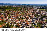 Купить «Picturesque top view of city Vrhnika. Republic of Slovenia», фото № 32292204, снято 4 сентября 2019 г. (c) Яков Филимонов / Фотобанк Лори