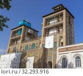 Купить «Edifice of the Sun, Shams ol Emareh, Golestan Palace, Tehran, Iran.», фото № 32293916, снято 2 мая 2019 г. (c) age Fotostock / Фотобанк Лори