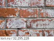 Texture of red brick wall. Стоковое фото, фотограф Юлия Бабкина / Фотобанк Лори