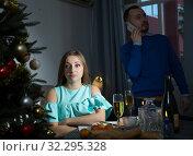 Купить «Upset couple after quarrel», фото № 32295328, снято 15 января 2019 г. (c) Яков Филимонов / Фотобанк Лори