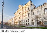 Отреставрированный фасад Политехнического музея в Москве (2019 год). Редакционное фото, фотограф Владимир Чинин / Фотобанк Лори