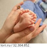 Ножки новорожденного. Стоковое фото, фотограф Степанова М Е / Фотобанк Лори