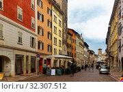 Historical center of Italian Trento (2019 год). Стоковое фото, фотограф Яков Филимонов / Фотобанк Лори
