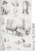 Купить «Nursery appliances. From The Household Physician, published c. 1898.», фото № 32313064, снято 4 июля 2019 г. (c) age Fotostock / Фотобанк Лори
