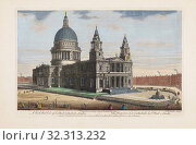 Купить «A north west view of St. Pauls Cathedral, London. After an 18th century print made by J. M. Muller and published by Robert Sayer.», фото № 32313232, снято 7 января 2019 г. (c) age Fotostock / Фотобанк Лори