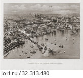 Купить «Artistâ.s impression of World's Columbian Exposition in Chicago, in 1893. The Fair celebrated the 400th anniversary of Christopher Columbus's arrival in...», фото № 32313480, снято 7 апреля 2019 г. (c) age Fotostock / Фотобанк Лори