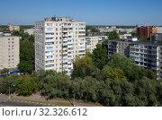 Купить «Виды города Жуковского с высоты», фото № 32326612, снято 24 августа 2018 г. (c) Natalya Sidorova / Фотобанк Лори