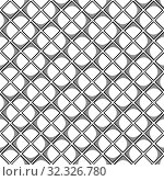 Купить «Abstract seamless geometric pattern with square elements. Simple black and white linear mosaic texture. Vector», иллюстрация № 32326780 (c) Dmitry Domashenko / Фотобанк Лори