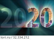 Купить «New year concept of 2020 - 3d rendering», фото № 32334212, снято 3 апреля 2020 г. (c) Elnur / Фотобанк Лори
