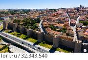 Historical center of Avila, Spain (2019 год). Стоковое фото, фотограф Яков Филимонов / Фотобанк Лори