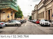 Купить «Колымажный переулок. Район Хамовники. Город Москва», эксклюзивное фото № 32343764, снято 22 мая 2009 г. (c) lana1501 / Фотобанк Лори
