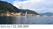 Купить «Kumbor city view in Herceg Novi municipality, Montenegro», фото № 32346884, снято 10 июня 2019 г. (c) Володина Ольга / Фотобанк Лори