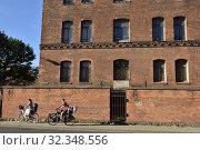 Купить «Old brick building, harbour district, Klaipeda, port city on the Baltic Sea, Lithuania, Europe.», фото № 32348556, снято 23 июня 2019 г. (c) age Fotostock / Фотобанк Лори