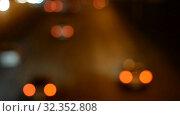 Купить «Night Car traffic highway city», видеоролик № 32352808, снято 1 июля 2018 г. (c) Mikhail Erguine / Фотобанк Лори