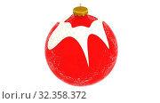 Купить «Вращающиеся новогодние шары», видеоролик № 32358372, снято 1 ноября 2019 г. (c) WalDeMarus / Фотобанк Лори