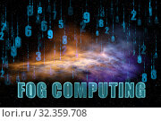 Concept of IT fog computing. Стоковое фото, фотограф Elnur / Фотобанк Лори