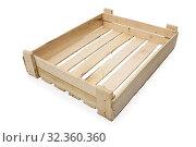 Купить «Ящик для транспортировки фруктов или овощей», фото № 32360360, снято 1 ноября 2019 г. (c) Александр Романов / Фотобанк Лори