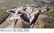 Купить «Panoramic landscape of fortress of Nossa Senhora da Graca in Elvas, Portugal», видеоролик № 32362592, снято 22 апреля 2019 г. (c) Яков Филимонов / Фотобанк Лори