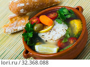 Fisherman soup with vegetables. Стоковое фото, фотограф Яков Филимонов / Фотобанк Лори