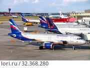 Aeroflot Airbus A320 (2019 год). Редакционное фото, фотограф Art Konovalov / Фотобанк Лори