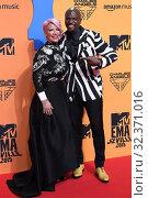 Купить «Rebecca King-Crews, Terry Crews attends 2019 MTV Europe Music Awards (EMAs) at FIBES Conference and Exhibition Centre on November 3, 2019 in Sevilla, Spain.03/11/2019.», фото № 32371016, снято 3 ноября 2019 г. (c) age Fotostock / Фотобанк Лори