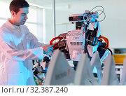 Купить «Robot Autonomy for Flexible Manufacturing, Collaborative robotic, Advanced manufacturing Unit, Technology Centre, Tecnalia Research & Innovation, Donostia...», фото № 32387240, снято 14 мая 2019 г. (c) age Fotostock / Фотобанк Лори