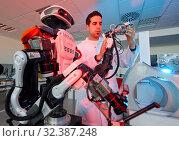 Купить «Robot Autonomy for Flexible Manufacturing, Collaborative robotic, Advanced manufacturing Unit, Technology Centre, Tecnalia Research & Innovation, Donostia...», фото № 32387248, снято 14 мая 2019 г. (c) age Fotostock / Фотобанк Лори