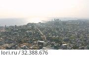 Купить «Sihanoukville city in Cambodia drone shot 4K», видеоролик № 32388676, снято 26 октября 2019 г. (c) Aleksejs Bergmanis / Фотобанк Лори