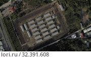Купить «Phu Quoc Coconut Prison concentration camp museum 4K Drone shot», видеоролик № 32391608, снято 3 ноября 2019 г. (c) Aleksejs Bergmanis / Фотобанк Лори