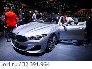 Купить «BMW 8-series Gran Coupe», фото № 32391964, снято 17 сентября 2019 г. (c) Art Konovalov / Фотобанк Лори