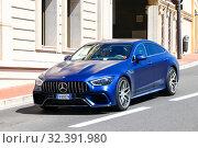 Купить «Mercedes-Benz-AMG GT 4-Door Coupe», фото № 32391980, снято 12 сентября 2019 г. (c) Art Konovalov / Фотобанк Лори