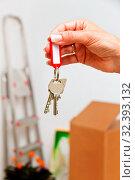 Der Schlüssel einer Wohnung beim Umzug. Neuer Mieter zieht ein. Стоковое фото, фотограф Zoonar.com/Erwin Wodicka / age Fotostock / Фотобанк Лори