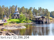 Monastyrsky Island, Valaam. Chapel of all Valaam saints (2019 год). Редакционное фото, фотограф Parmenov Pavel / Фотобанк Лори