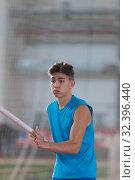 Купить «Pole vaulting - a portrait of running man with a pole», фото № 32396440, снято 1 ноября 2019 г. (c) Константин Шишкин / Фотобанк Лори