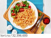 Купить «fresh salad with crispy fried onions, top view», фото № 32396600, снято 18 сентября 2019 г. (c) Oksana Zh / Фотобанк Лори