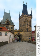 Купить «Малостранская мостовая башня, Карлов мост, Прага, Чехия», фото № 32396632, снято 22 января 2019 г. (c) Ольга Коцюба / Фотобанк Лори