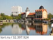 Купить «Красивый городской пейзаж. Калининград», эксклюзивное фото № 32397924, снято 25 августа 2019 г. (c) Svet / Фотобанк Лори