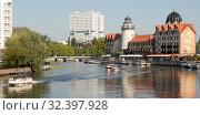 Купить «Красивый городской пейзаж. Калининград», эксклюзивное фото № 32397928, снято 25 августа 2019 г. (c) Svet / Фотобанк Лори
