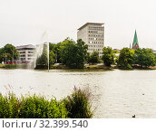 Overlooking the Kleiner Kiel lake,  Kiel, Schleswig-Holstein, Germany, Europe. Стоковое фото, фотограф Николай Коржов / Фотобанк Лори