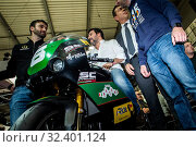 Купить «Lega party leader Matteo Salvini visits EICMA 2019, International Cycle and Motorcycle Exhibition, in Rho Fiera, Milan, Italy 09-11-2019.», фото № 32401124, снято 9 ноября 2019 г. (c) age Fotostock / Фотобанк Лори