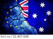 Купить «Composite image of australian flag», фото № 32407608, снято 12 июля 2020 г. (c) Wavebreak Media / Фотобанк Лори