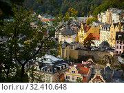 Karlovy Vary, Czech Republic - October 11, 2019: View of Karlovy Vary in Bohemia. Czechia. Редакционное фото, фотограф Яков Филимонов / Фотобанк Лори